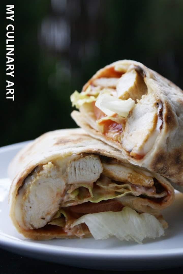 Twister z grillowanym kurczakiem (LOW FODMAP, bez glutenu, bez laktozy)