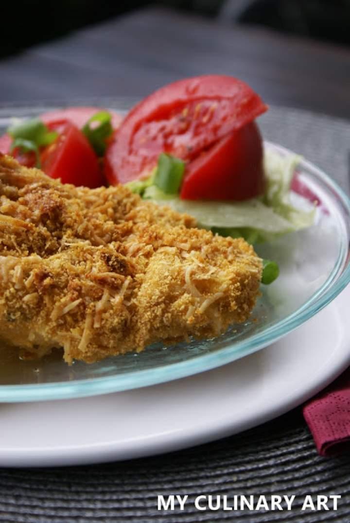 Pieczone piersi z kurczaka w panierce (LOW FODMAP, gluten free, lactose free)