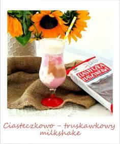 Ciasteczkowo – truskawkowy milkshake