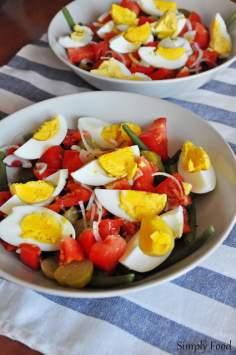 Sałatka z fasolką szparagową i jajkami
