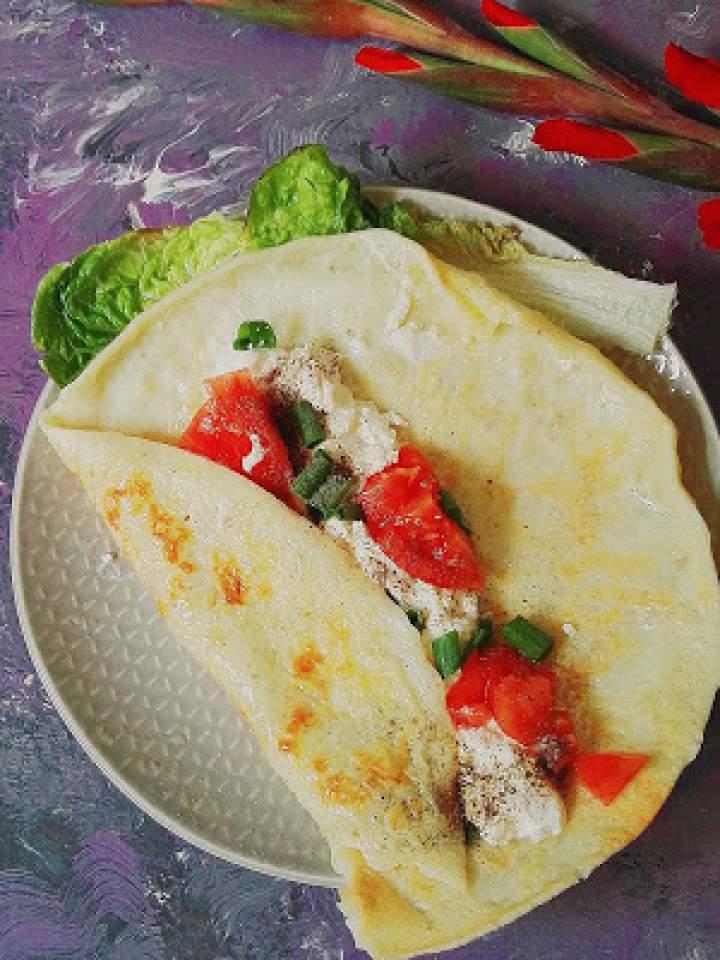 Twarożkowy omlet na śniadanie