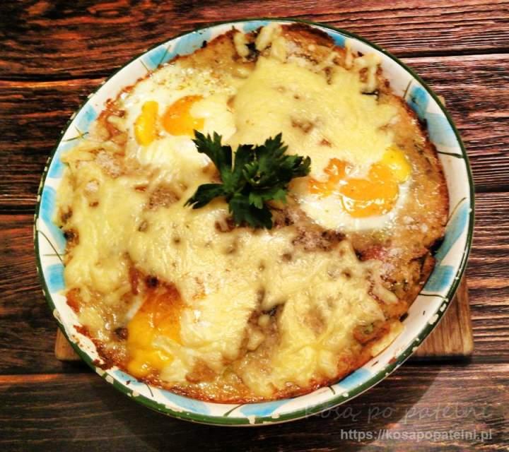 Zapiekanka ziemniaczana z kalafiorem i kurczakiem
