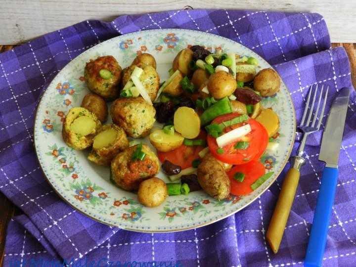 Mięsne kulki z nadzieniem z ziemniaków