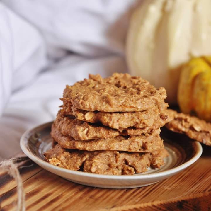 Pełnoziarniste ciasteczka dyniowe