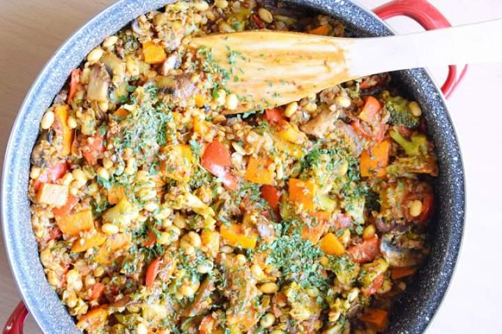 Kaszotto z warzywami i soją – wegańskie, bezglutenowe :)