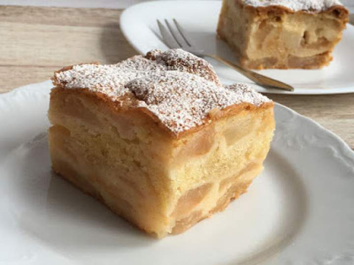 Ciasto jabłecznik zaparzany