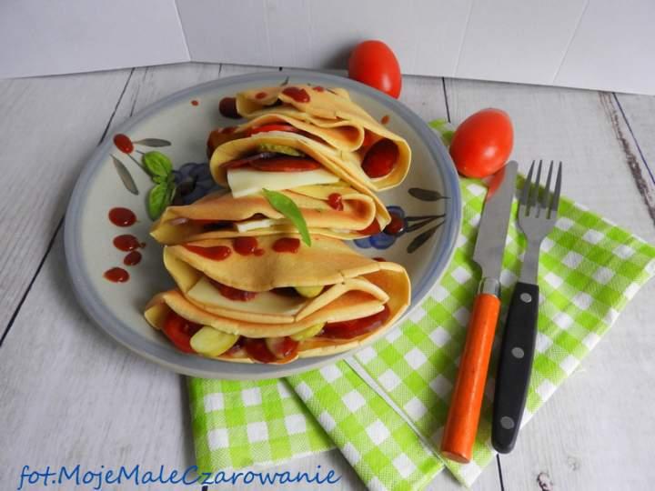 Wytrawne naleśniki z mozzarellą i chorizo