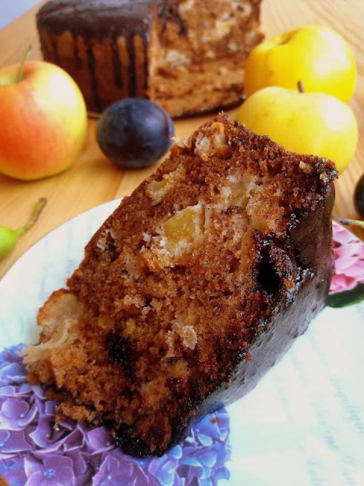 Ucierane ciasto z jabłkami / Apple Cake