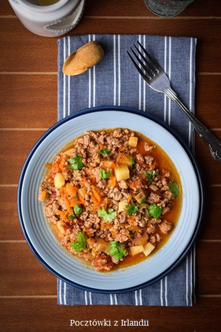 Kolejowe curry z mięsem mielonym