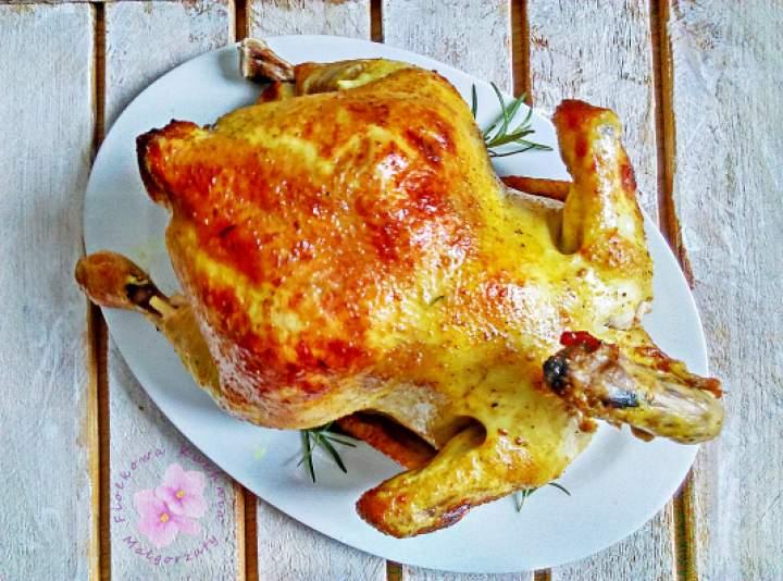 Złoty kurczak z rożna