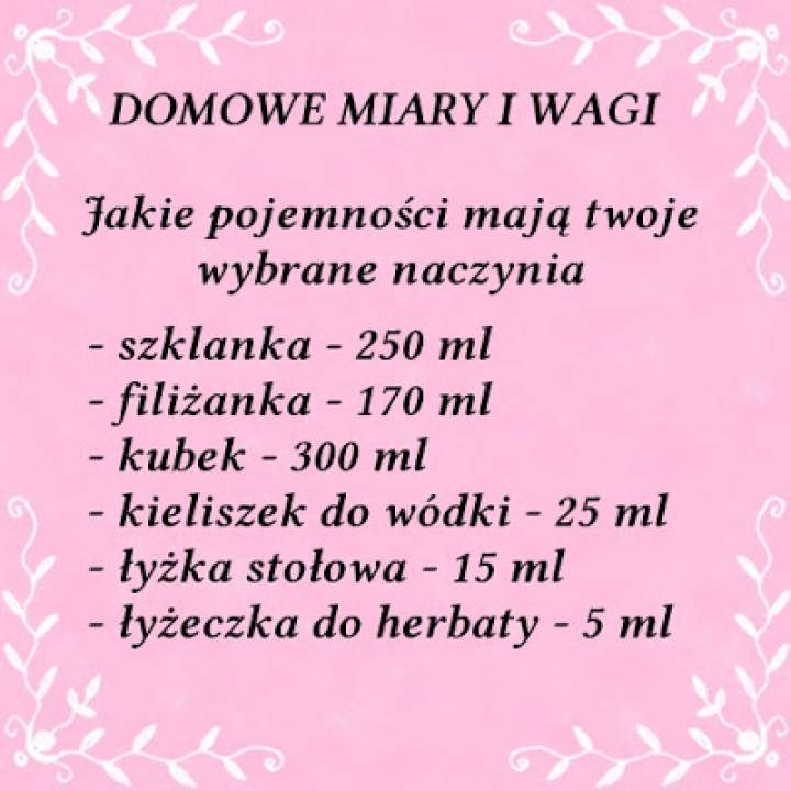 DOMOWE MIARY I WAGI