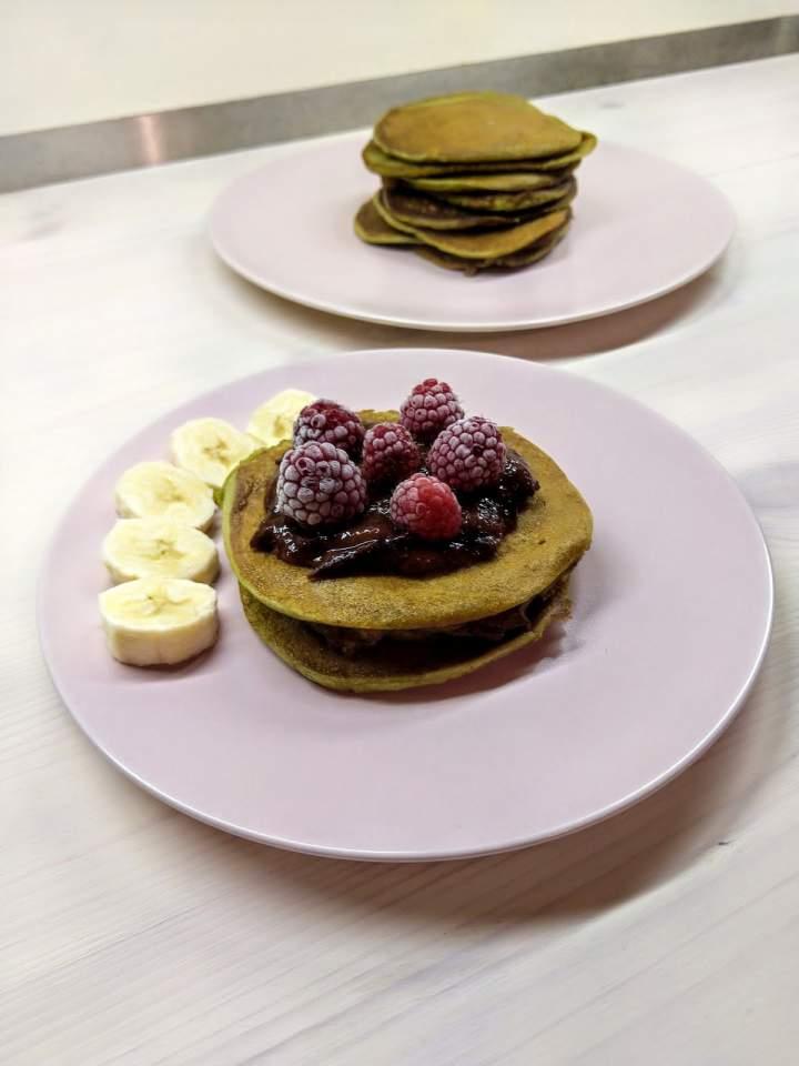 Pancakes z mąki z pestek dyni