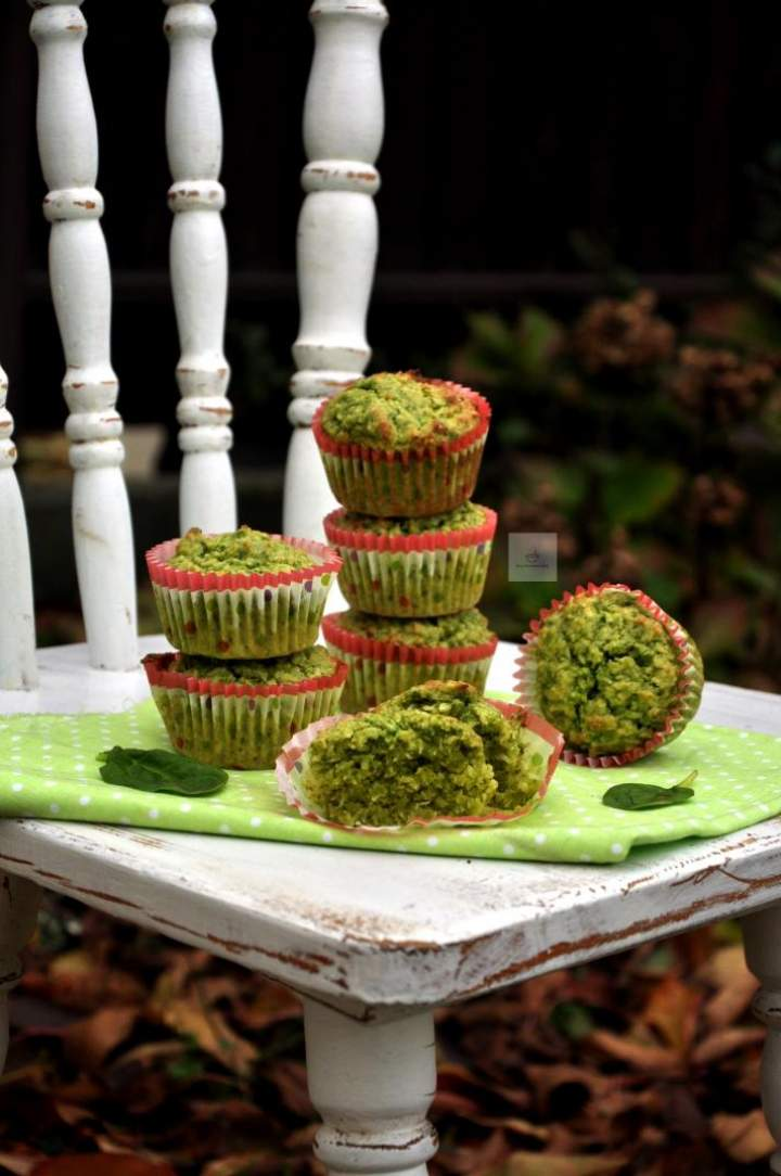 Wegańskie muffinki szpinakowe z kokosem
