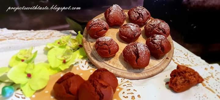 Muffinki czekoladowo – wiśniowe z nutą rumu / Muffins chocolate and cherry with a hint of rum