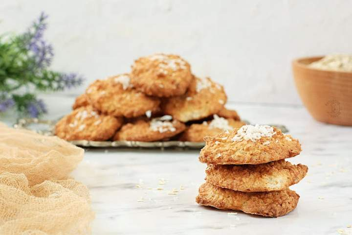 Kokosowo – Owsiane Ciasteczka Na Białkach