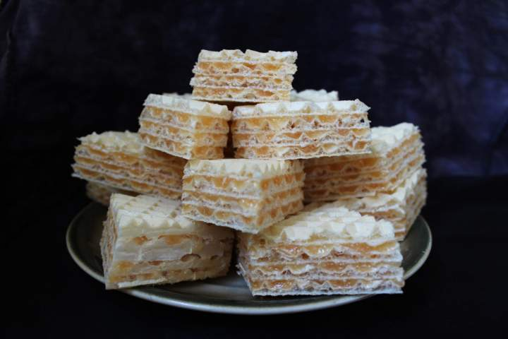Wegański wafel z galaretką