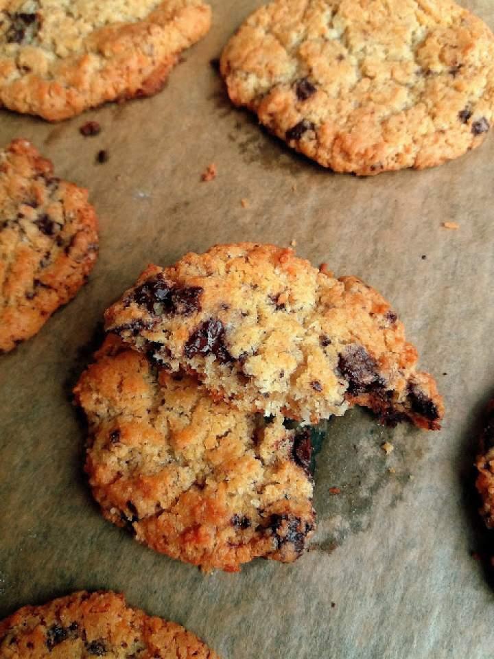 Kokosowe ciasteczka z czekoladą / Coconut Chocolate Chip Cookies