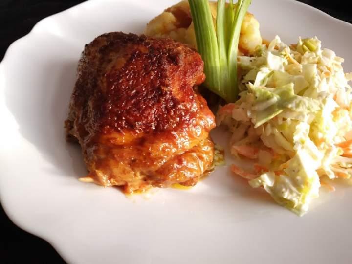 Kurczak duszony w sosie własnym