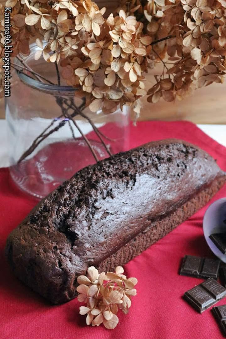 Korzenny keks z bananem i kawałkami czekolady
