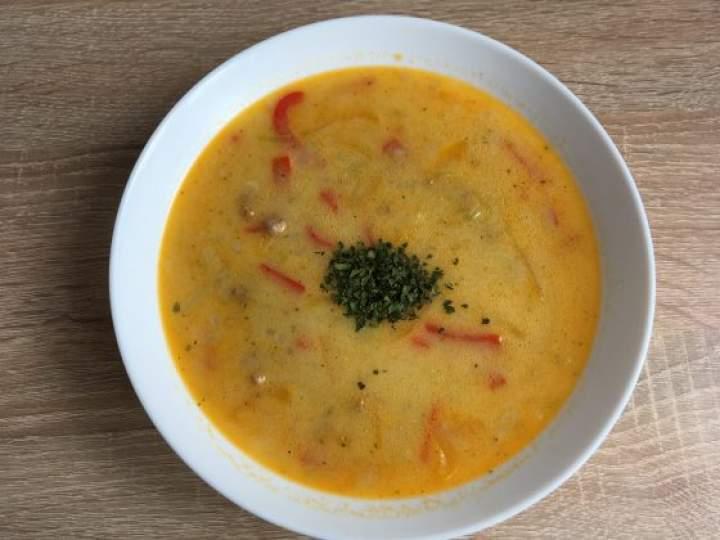 Paprykowa zupa z serków topionych