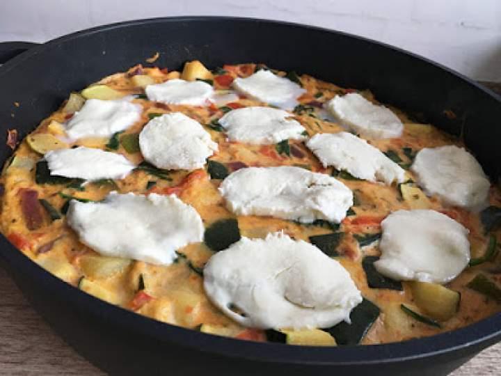 Frittata ze szpinakiem i mozzarellą