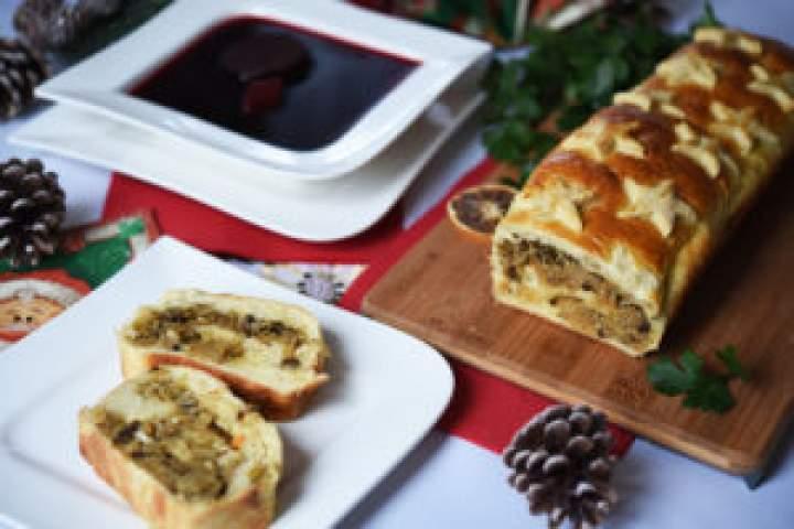 Zabezpieczony: Kulebiak zkapustą itradycyjny barszcz czerwony + KONKURS świąteczny!