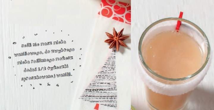 gruszka + mleko waniliowe owsiane + przyprawy korzenne