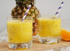 ananas + pomarańcza + mięta + kiwi