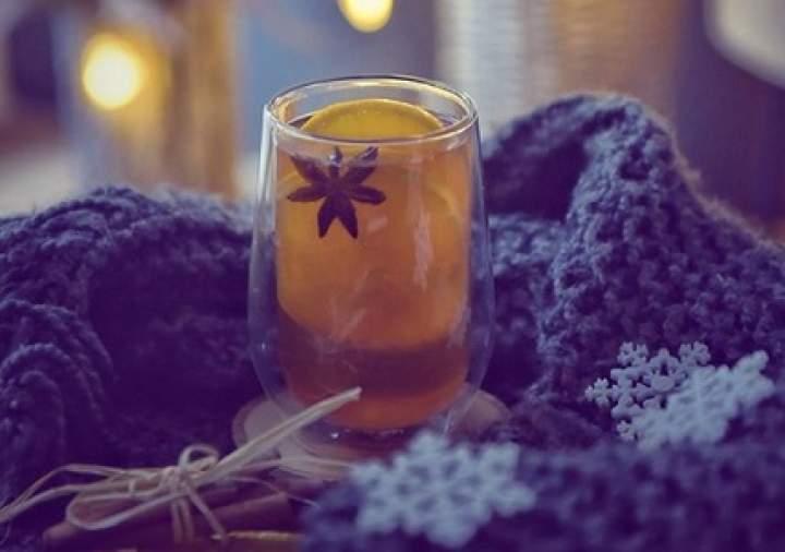 herbata + cynamon + pomarańcza + anyż