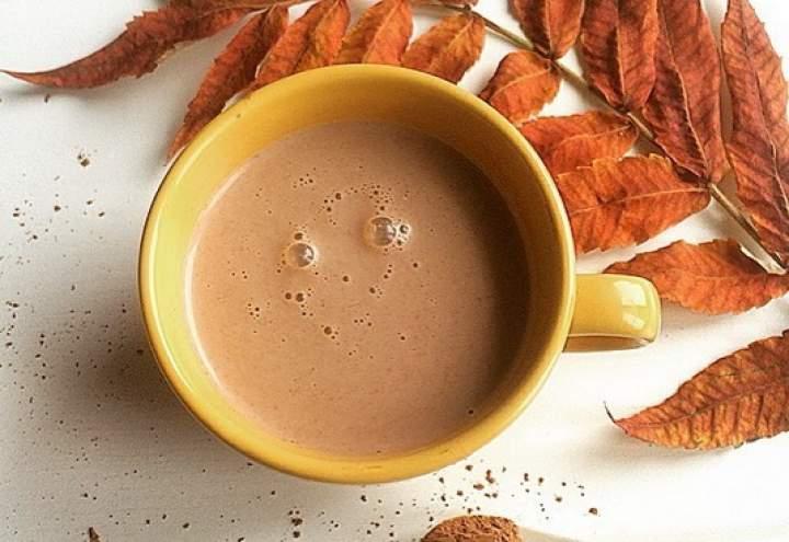 mleko roślinne + kakao + miód
