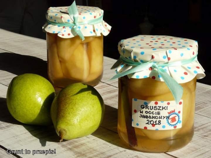 Gruszki w occie jabłkowym na zimę