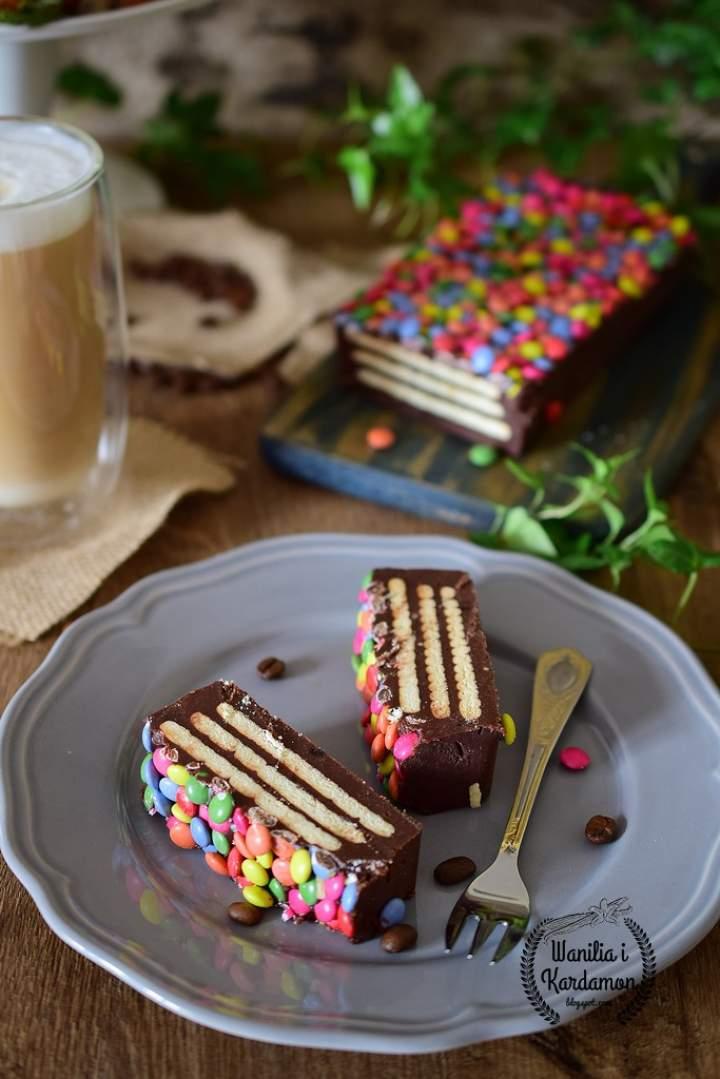 Blok czekoladowy z lentilkami