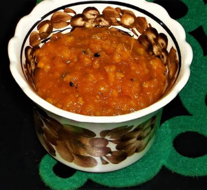 Puree z dynii i ziemniaków