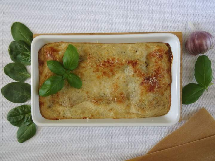 Lasagne ze szpinakiem i tofu