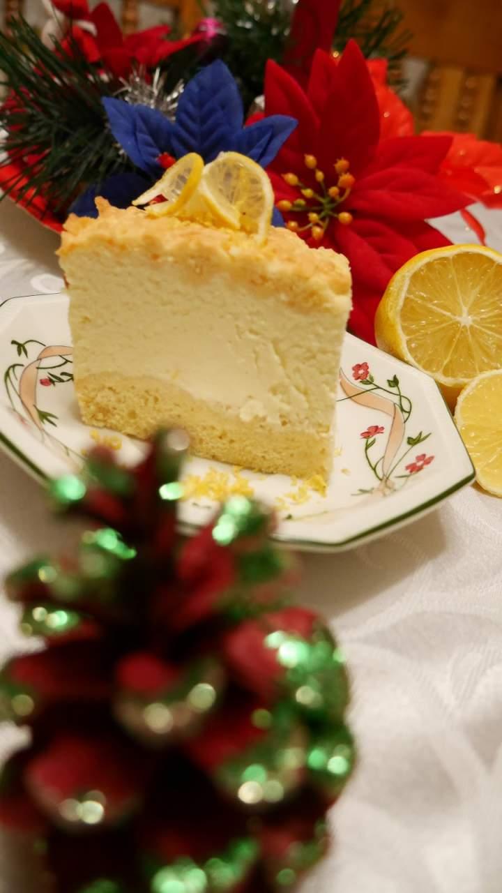 Świąteczny sernik cytrynowy