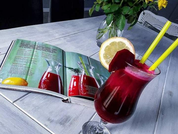 burak + cytryna + jabłko + siemię lniane lub nasiona chia