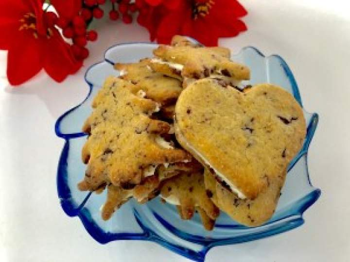 Czekoladowo-pomarańczowe ciasteczka z kremem milky way