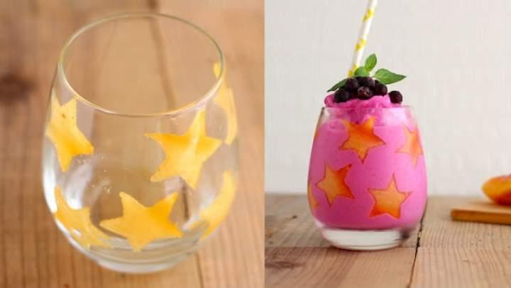 nektarynka + gruszka + pitaja + mleko