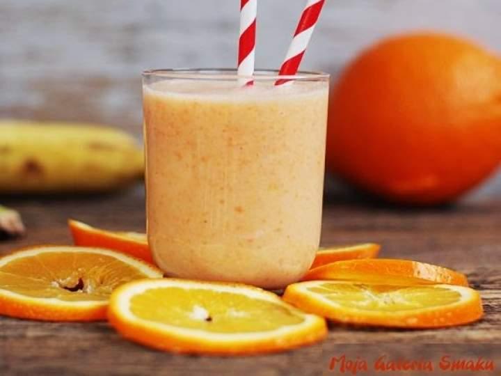 banan + marchewka + pomarańcza + wanilia + mleko