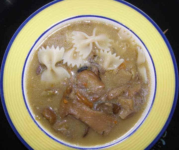 zupa grzybowa z makaronem…