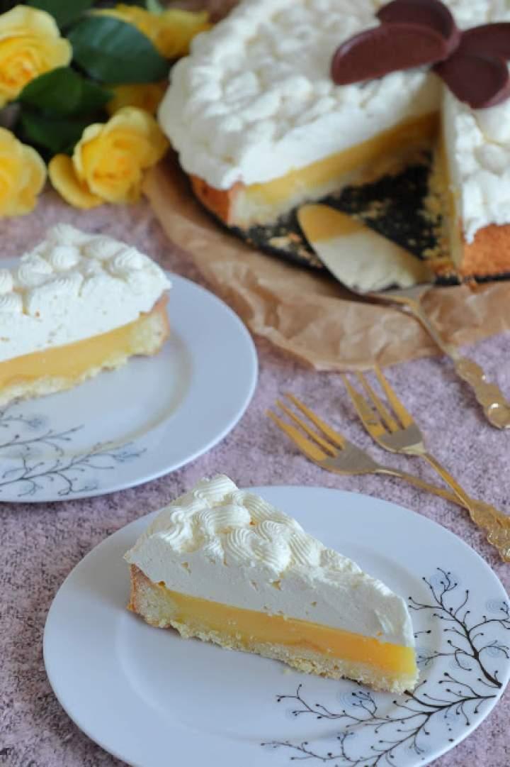 Tarta cytrynowa z kremem brzoskwiniowym
