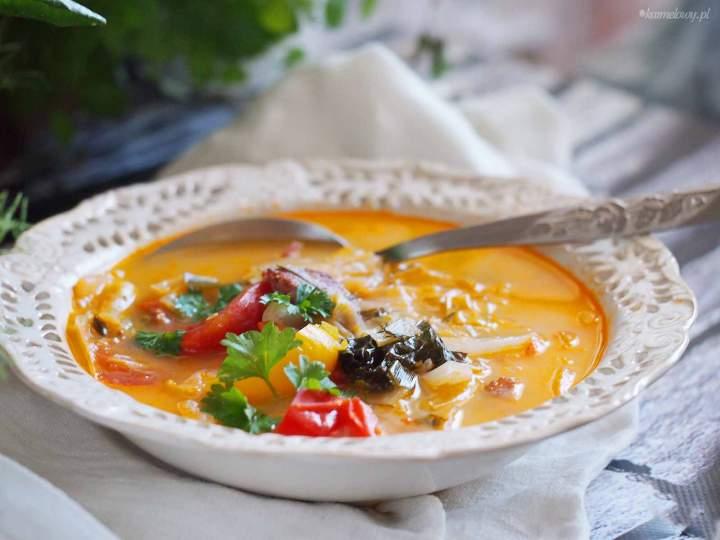 Zupa warzywna z kiełbasą / Vegetable soup with sausage