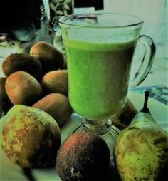 Zielony koktajl z siemieniem lnianym