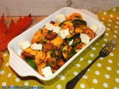 Sałatka z tortellini, ostrygami i fetą