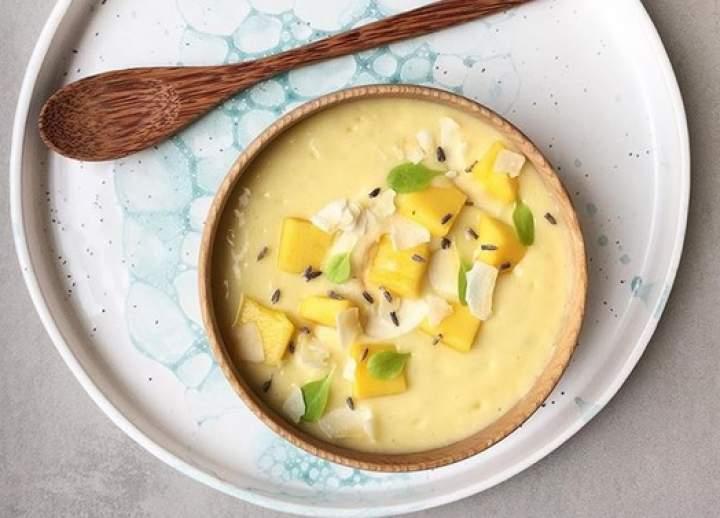 mango + jogurt sojowy + kardamon