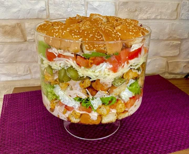 Sałatka Big Mac z kurczakiem