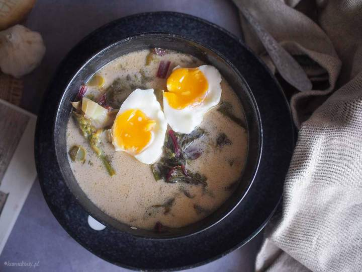 Zupa szczawiowa ze szparagami / Sorrel asparagus soup