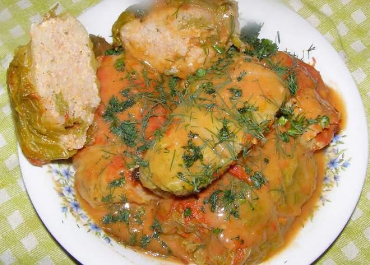 szybkowar-gołąbki z kapusty włoskiej w sosie ze świeżymi pomidorami…