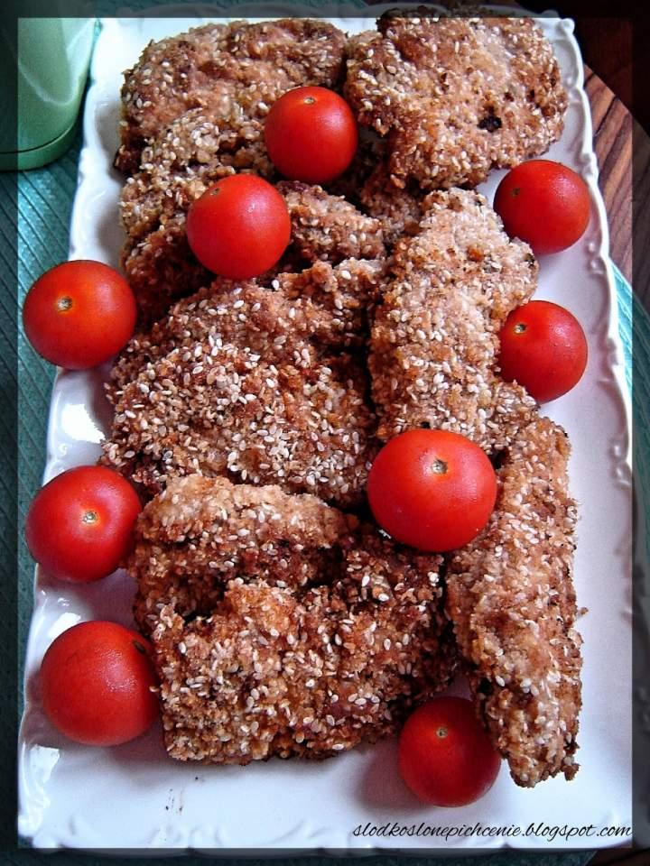 Musztardowe kąski z kurczaka w sezamie