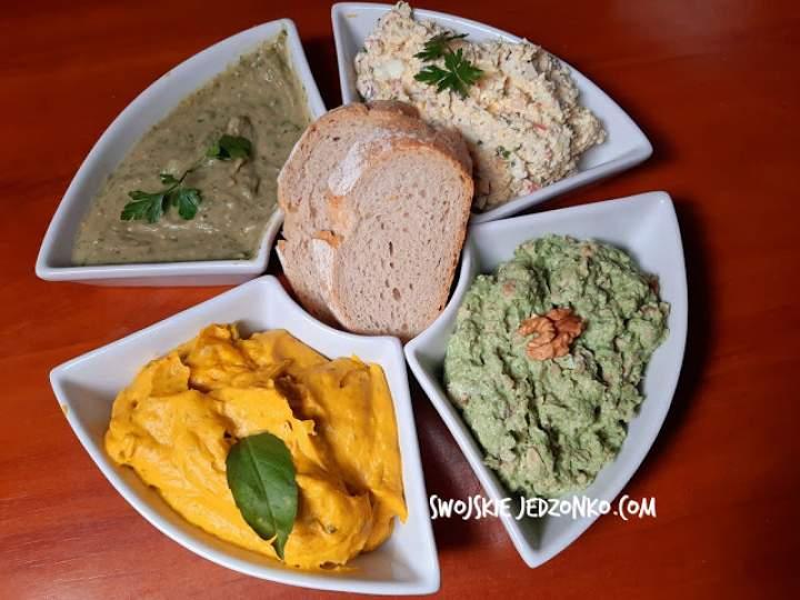 Pasty kanapkowe bez mięsa-4 rodzaje